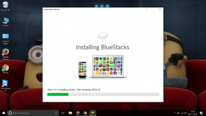Installing Bluestacks window